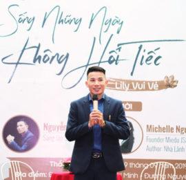 Nhà sáng lập Sbooks Nguyễn Anh Dũng phát biểu trong buổi giới thiệu sách mới.